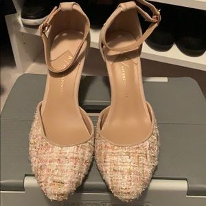 Anthropologie tweed heels shoes